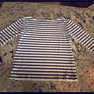 Nautical Striped Vineyard Vines 3/4 Sleeve Top